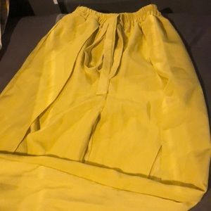 Pants - Wide Leg Slit Pants